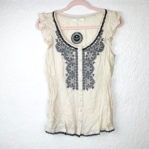 ✨ NWT Hazel Sleeveless Embroidered Blouse Top